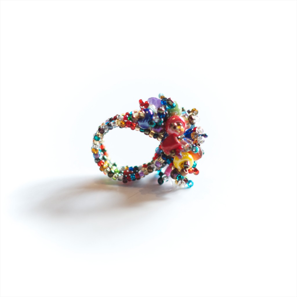 Guate!Guate Volcán multicolour ring MoM110-MU