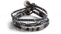 Wakami Adventures: Professional Bracelet 3-pack WA0472, armband för män I blått, grått, svart och silver