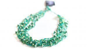 Grönt halsband med pärlor, från Guate!Guate (MoM482-GR)