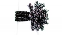 Guate!Guate Black Pyro™ svart ring MoM110-SV, Guatemala, konsthantverk, pärlor, smycke