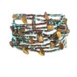 armband, brun, Erupción, turkos, Guatemala, smycke