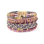 All One, armband, Fair Trade, Guatemala, guld, hantverk, lila, manschett, Wakami