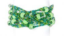 armband, Erupción 12, grön, Guate!Guate, Guatemala, hantverk, Masomenos, pärlor, smycke