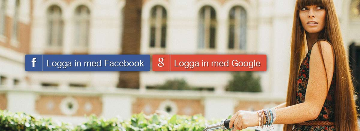 Logga in med Facebook eller Google+