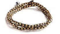 armband, Fair Trade, Guatemala, guld, halsband, Noir, smycke, svart, Wakami