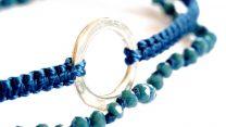 Yoga-armband från Wakami: Inner Health Balance i blått