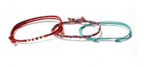 Wakami Urban Tribe: Dynamic Red 3 armband WA0589-07, unisex, män, kvinnor, röd, blå, smycke, fairtrade, Wakami, handtillverkat