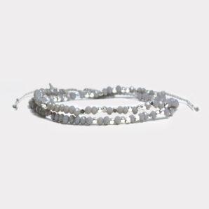 Skimrande armband: Inner Health grått/silver