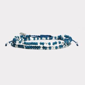Wakami-armband i blått och silver