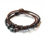 The 4 Elements Wrap Water Bracelet Wakami WA0598-01 armband för män