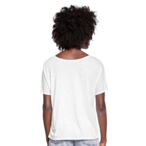 Baksidan av Masomenos reklam-t-shirt.